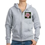 .light pink rose. Women's Zip Hoodie