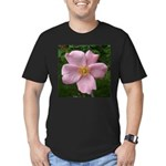 .light pink rose. Men's Fitted T-Shirt (dark)