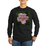 .light pink rose. Long Sleeve Dark T-Shirt