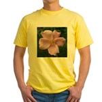 .light pink rose. Yellow T-Shirt