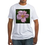 .light pink rose. Fitted T-Shirt