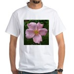 .light pink rose. White T-Shirt
