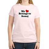 My Heart: Semaj Women's Pink T-Shirt