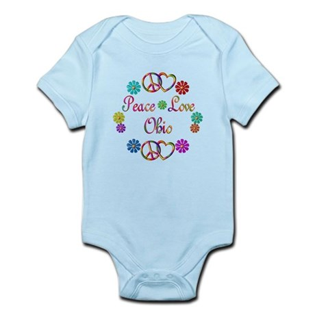 Peace Love Ohio Infant Bodysuit