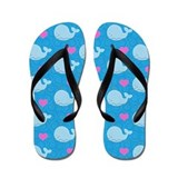 Little Blue Whale Flip Flops (Blue)