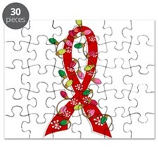 Christmas Lights Ribbon Heart Disease Puzzle