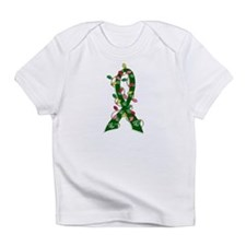 Christmas Lights Ribbon Liver Disease Infant T-Shi