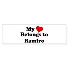 My Heart: Ramiro Bumper Bumper Sticker