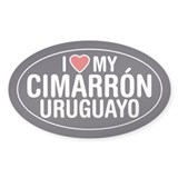 I Love My Cimarron Uruguayo Oval Sticker/Decal