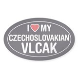 Love My Czechosolvakian Vlcak Oval Sticker/Decal