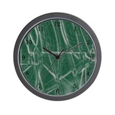 Green Textured Wall Clock