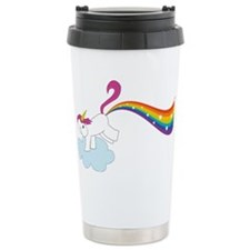 Rainbow Unicorn Ceramic Travel Mug