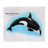 Killer Whale or Orca Throw Blanket