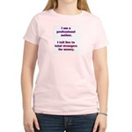 Professional Author w/ AW URL Women's Pink Tee