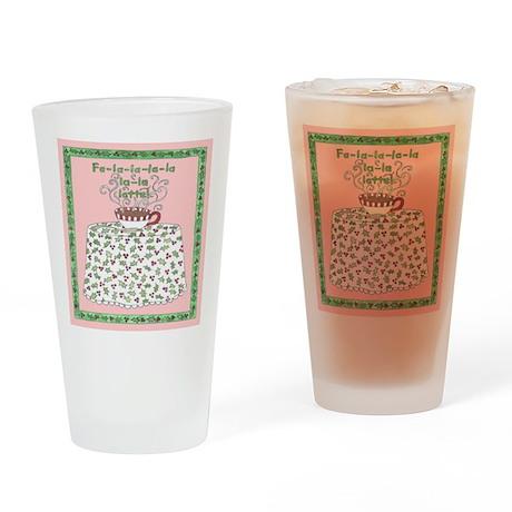 Fa-la-la-la-la-la-la-latte Drinking Glass