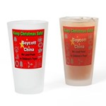 Keep Christmas Safe Boycott C Drinking Glass