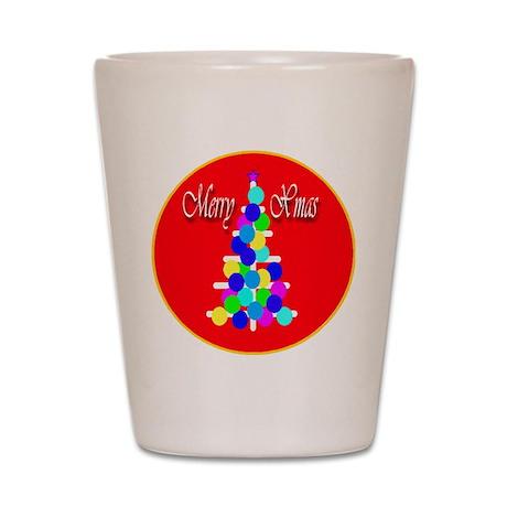 Merry Xmas Modern Christ Shot Glass