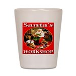 Santa's Workshop Shot Glass