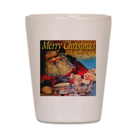 Merry Christmas Santa Claus Shot Glass