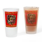 Happy Holiday Drinking Glass