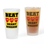 Live Love Win Beat Heart Dise Drinking Glass