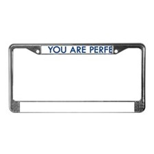 Perfection License Plate Frame