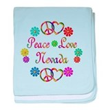 Peace Love Nevada baby blanket