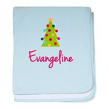 Christmas Tree Evangeline baby blanket