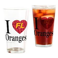 I Love FL Oranges Drinking Glass