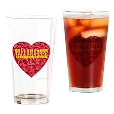 Tallahassee Heart Drinking Glass