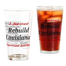 Rebuild Louisiana Drinking Glass