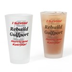 Rebuild Gulfport Drinking Glass