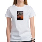 Atlanta Nights Women's White T w/ Blurb on Back