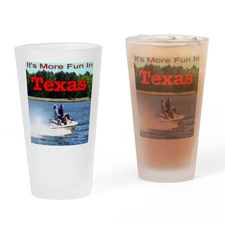 Jet Skiing Texas Drinking Glass
