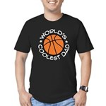 World's Coolest Basketball Dad Men's Fitted T-Shir