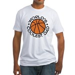 World's Coolest Basketball Dad Fitted T-Shirt