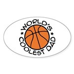 World's Coolest Basketball Dad Sticker (Oval)