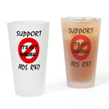 Support AIDS R&D Drinking Glass