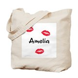 Amelia kisses Tote Bag