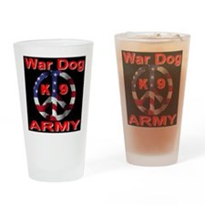 War Dog K9 Army Drinking Glass