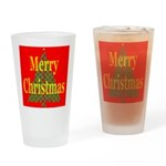 K9 Paw Christmas Tree Drinking Glass