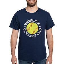 World's Coolest Softball Dad T-Shirt