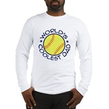 World's Coolest Softball Dad Long Sleeve T-Shirt