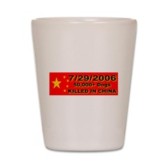 50,000+ Dogs Killed In China Shot Glass