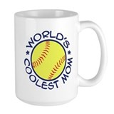 World's Coolest Softball Mom Ceramic Mugs