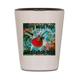 Heavy Metal Yoga Meditation I Shot Glass
