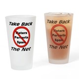 Take Back The Net Drinking Glass