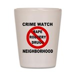 Crime Watch Neighborhood Shot Glass