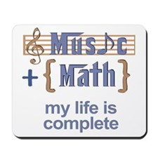 Music and Math Mousepad