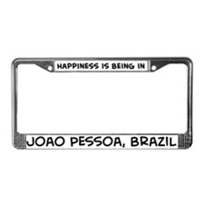 Happiness is Joao Pessoa License Plate Frame